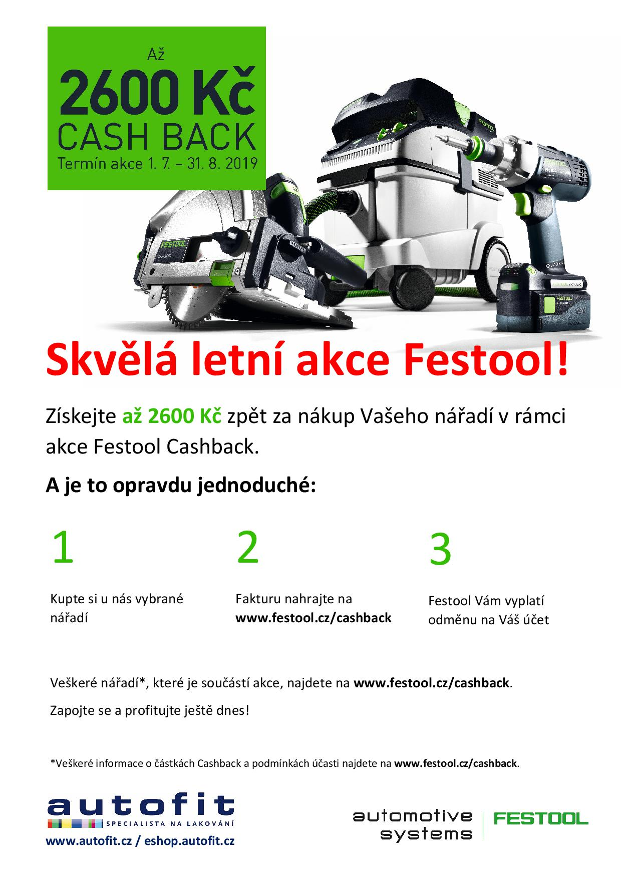 Festool cashback Auto Fit